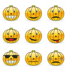 Pumpkin emoticons vector