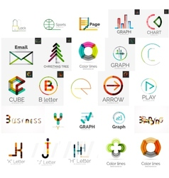 Set of branding company logo elements vector