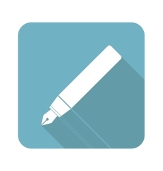 Ink pen square icon vector