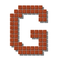 Letter g made from realistic stone tiles vector