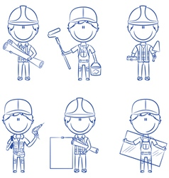 Collection of construction workers vector