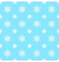 Seamless snowflake christmas background vector