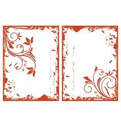 autumn grunge floral frames vector image