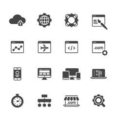 Website development icons vector