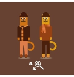 mustache cats Hipster Animals vector image