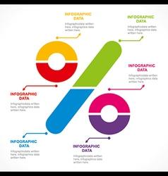 creative percentage sign info-graphics design vector image