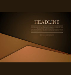 Dark brown corporate material tech background vector