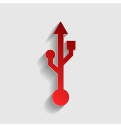 Usb sign vector