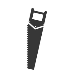 Saw tool icon construction and repair design vector