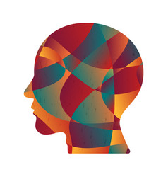 Abstract colorful curve shape human head vector