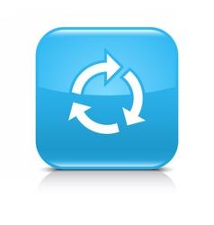 Blue arrow repeat reload refresh rotation sign vector