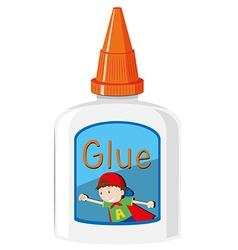 Bottle of glue with orange cap vector image