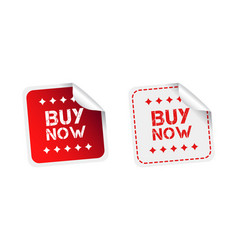 Buy now stickers on white background vector