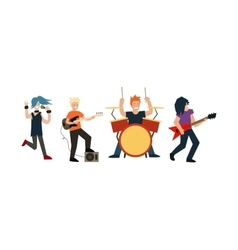 Cartoon rock band vector