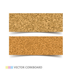 Cork board banners set vector