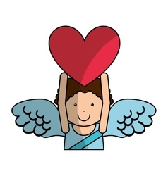 Cupid angel character icon vector