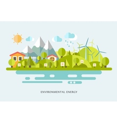 ecology infographic elements vector image