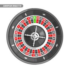 European roulette wheel vector