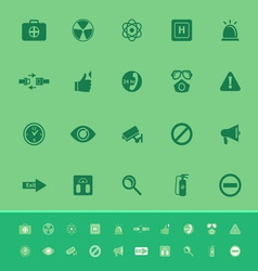 General healthcare color icons on green background vector image