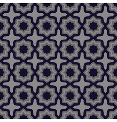 Geometric floral seamless pattern vector