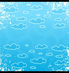 grunge retro cloudscape frame vector image vector image