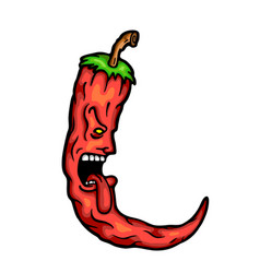 hot chilli vector image vector image