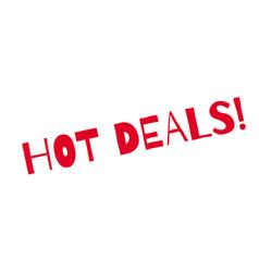 Hot deals rubber stamp vector