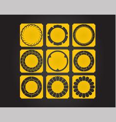 Japanese culture symbolic ornaments set vector