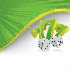 lucky dice vector image vector image