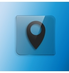 Map pointer icon vector