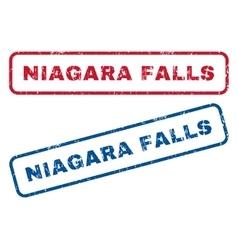 Niagara falls rubber stamps vector