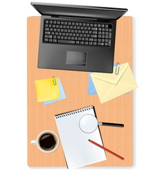 notebook and office supplies vector image