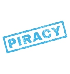 Piracy rubber stamp vector