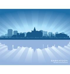 Saskatoon Canada skyline silhouette vector image