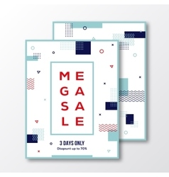Season mega sale poster card or flyer template vector