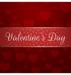 Shiny valentines day ribbon with text vector