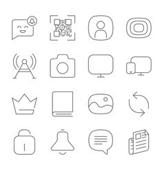 simple web icons set universal web icon to use in vector image