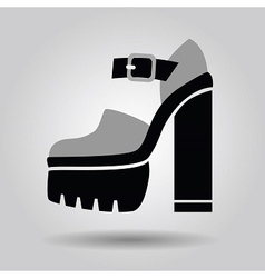 Single women platform high heel shoe icon vector image vector image