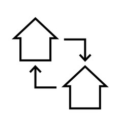 thin line house icon vector image vector image
