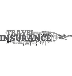 will you need travel insurance text word cloud vector image vector image
