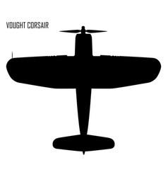 World war ii - vought f4u corsair vector