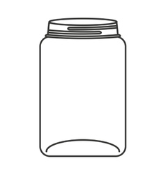 Cute mason jar isolated icon vector