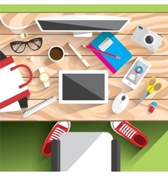 Realistic workplace organization vector
