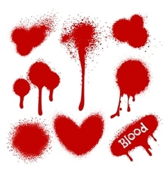 Blood splatters isolated on white vector image