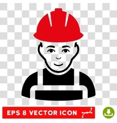 Glad worker eps icon vector