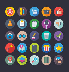 business and office icons 8 vector image