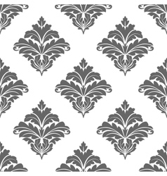 Grey seamless floral pattern vector image