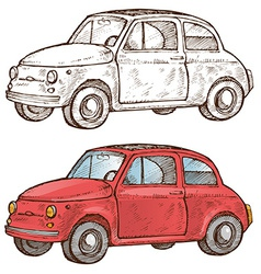 Old italian car vector