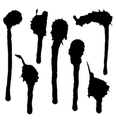 Ink blot collection vector