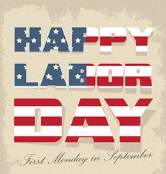 Labor day sign -american holiday vector